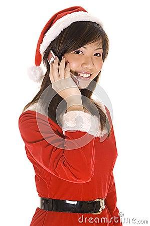 Santarina sul telefono