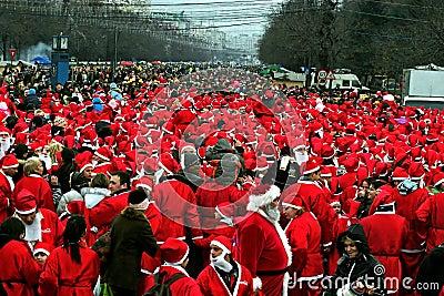 Santas Editorial Stock Photo