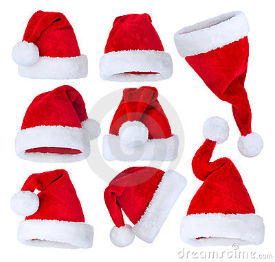 Free Santas Hat Set Stock Image - 22472941