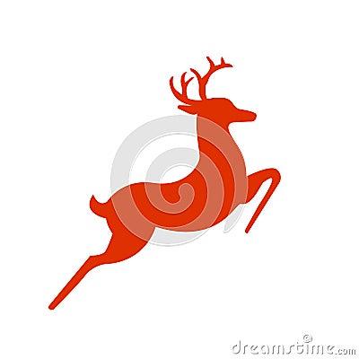 Santas rein deer silhouette
