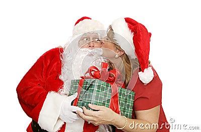 Santas Thank You Kiss