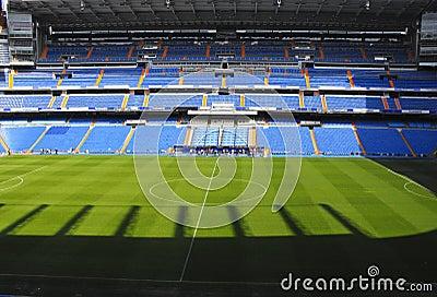 Santiago Bernabeu stadium from Madrid Editorial Photo