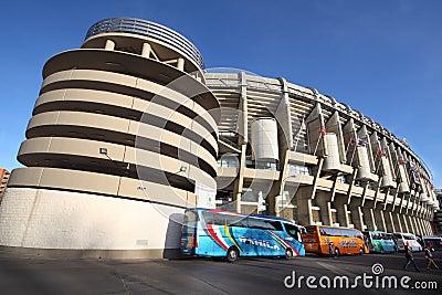 Santiago Bernabeu stadium Editorial Stock Image