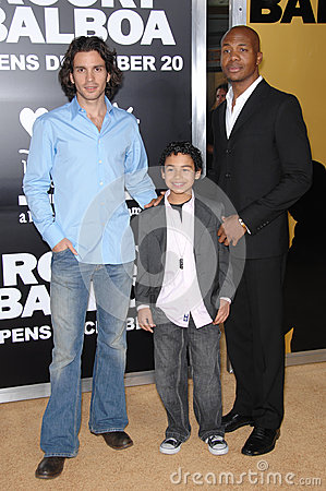 Santiago Cabrera,Noah Gray Cabey,Noah Gray-Cabey Editorial Photo