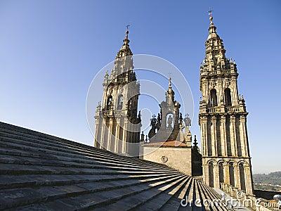 Santiago de Compostela Cathedral Editorial Photography
