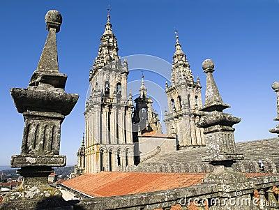 Santiago de Compostela Cathedral 3 Editorial Photography