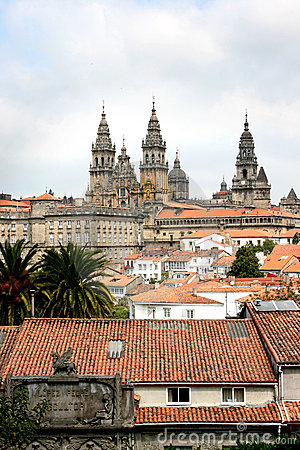 Santiago de Compostela and her cathedral in Spain