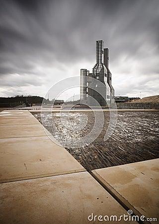 SANTIAGO DE COMPOSTTELA, SPAIN - NOVEMBER 13: Hejduk Towers on N Editorial Photo