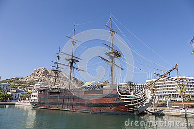 Santisima Trinidad in Alicante Harbour