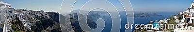 Santorini πανοράματος