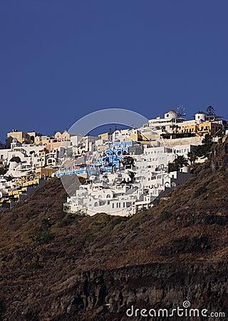 Santorini Греции fira