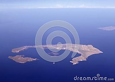 Santorini from air