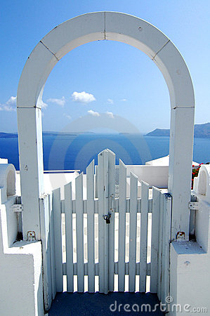 Free Santorini Archway View Stock Photo - 1614630