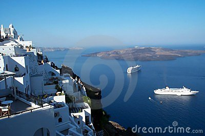 Santorini - caldera view Stock Photo