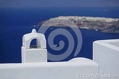 Santorini chimney and rooftop