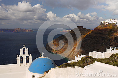 Santorini church and bell tower
