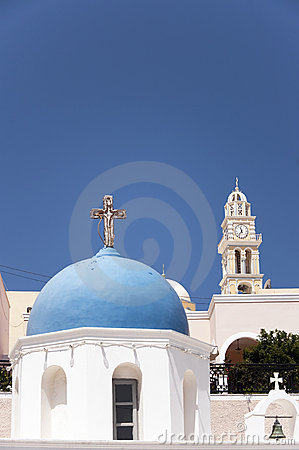 Santorini church in fira