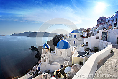 Santorini Churches in Oia, Greece