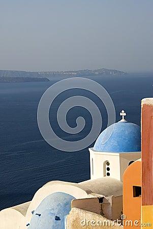 Santorini classic greek island