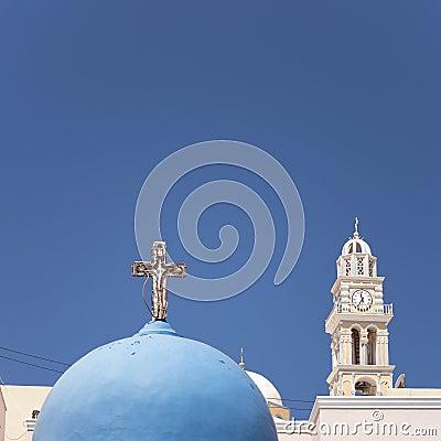 Santorini fira church