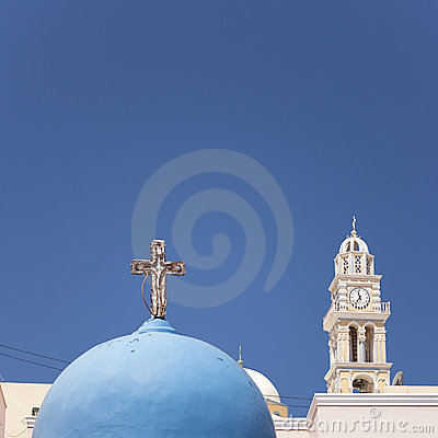 Santorini fira Kirche
