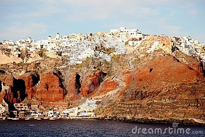 Santorini, Greece from the Aegean Sea