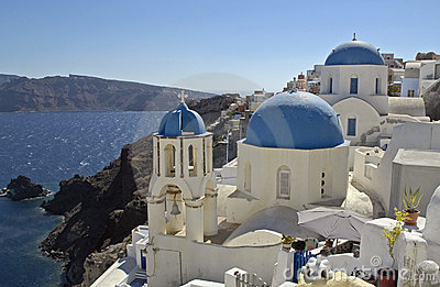 Santorini Greek Island holiday sun