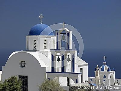 Santorini in the Greek Islands