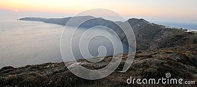 Santorini island caldera, Greece