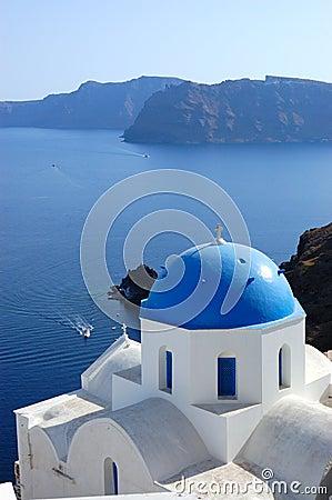 Free Santorini Island  Church View Royalty Free Stock Photos - 23755368
