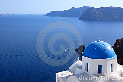 Santorini island  church view