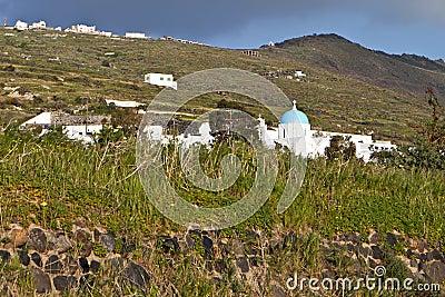 Santorini island in the Cyclades