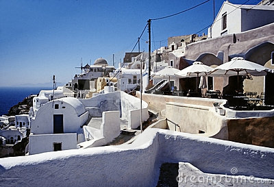 Santorini island, Cyclades, Greek Editorial Stock Photo