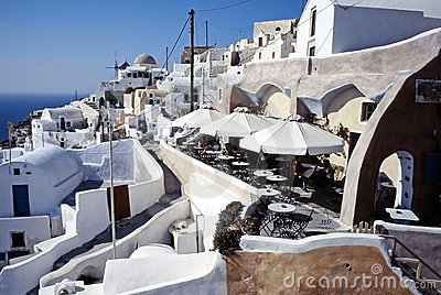 Santorini island, Cyclades, Greek Editorial Photography