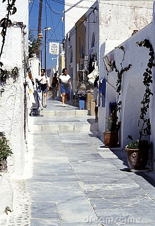 Santorini island, Cyclades, Greek Editorial Photo