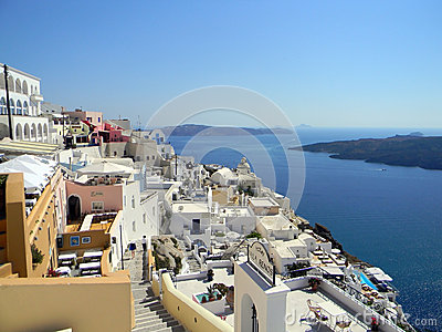 Santorini island, Cyclades, Greek Editorial Stock Image