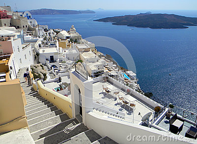 Santorini island, Cyclades, Greek Editorial Image