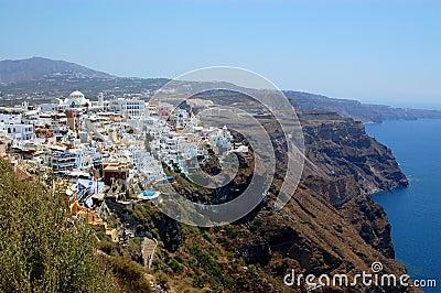 Santorini island  fira view