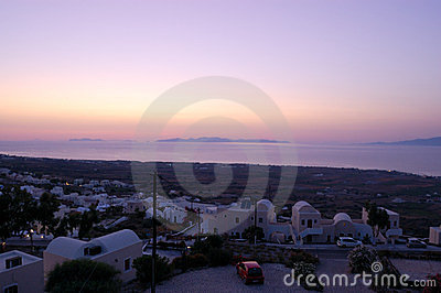 Santorini island  Oia sunset view