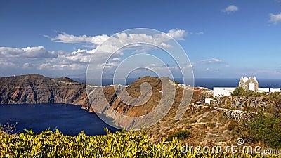 Volcano Santorini Island Panorama, Greece