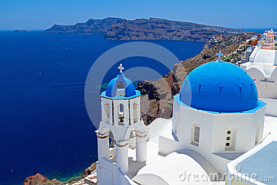 Santorini kościelni Cupolas, Grecja