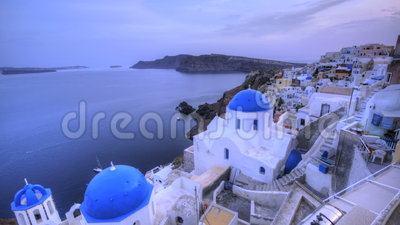 Santorini Oia stock video