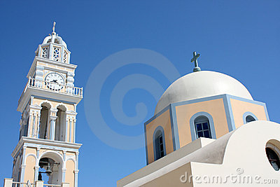 Santorini, an Orthodox church