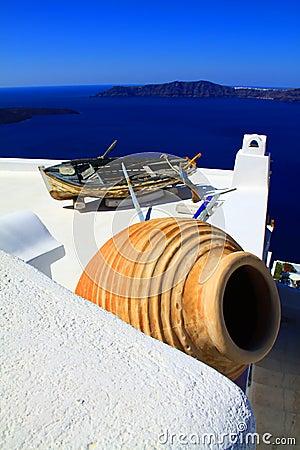 Santorini pot