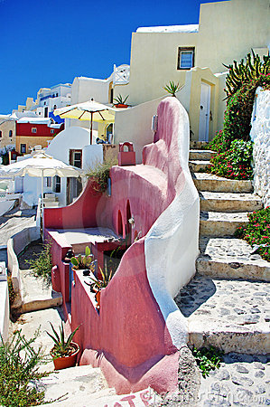 Santorini streets