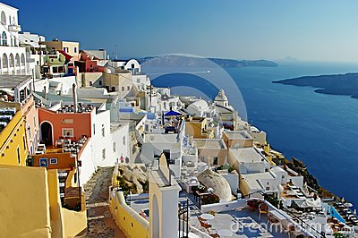 Santorini before sunset