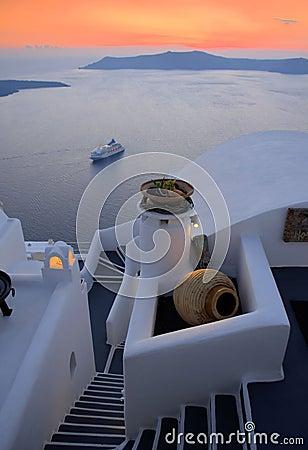Santorini,Thira town
