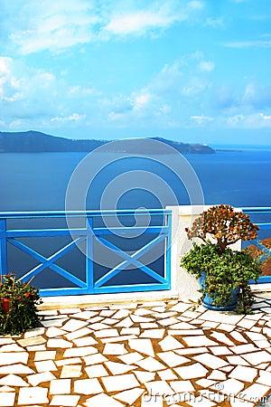 Free Santorini View Stock Image - 1361311
