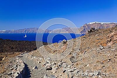 Santorini view from volcano