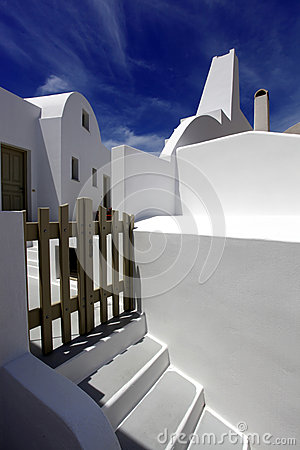 Santorini white architecture in Greece